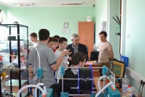 Посещение FABLAB учащимися гиманзии №36